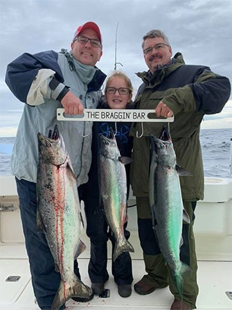 Customer Catches Charter Fishing Rates in Door County, WI