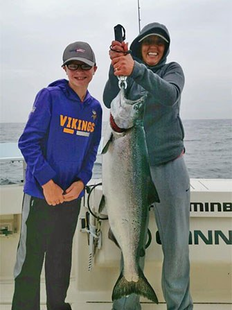 Customer Catches Charter Fishing Rates in Sturgeon Bay, WI